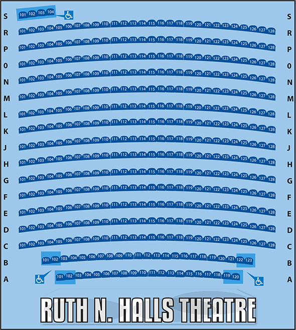 Ruth N Halls Theatre seating chart