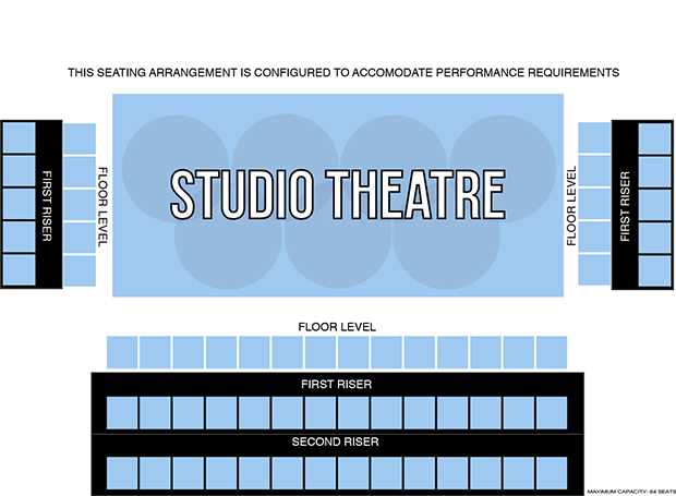 Studio theatre seating chart