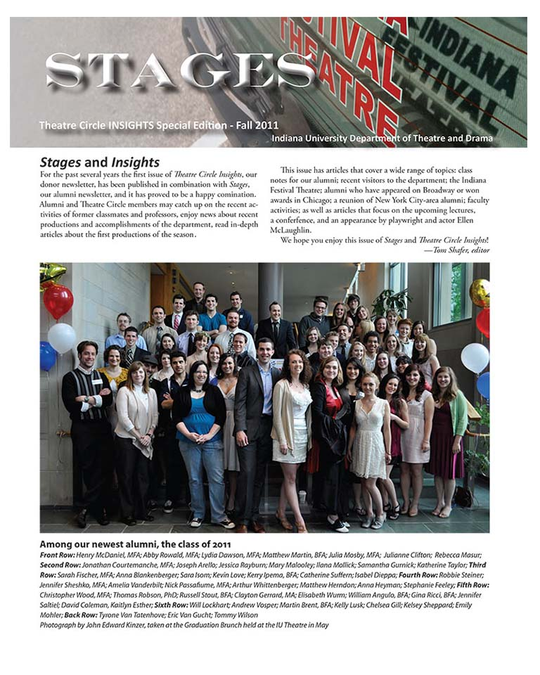Stages Newsletter Fall 2011
