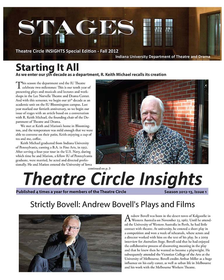 Stages Newsletter Fall 2012