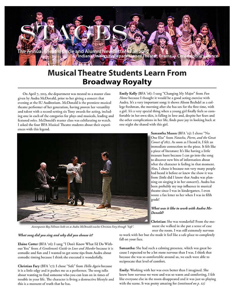 Stages Newsletter Fall 2015