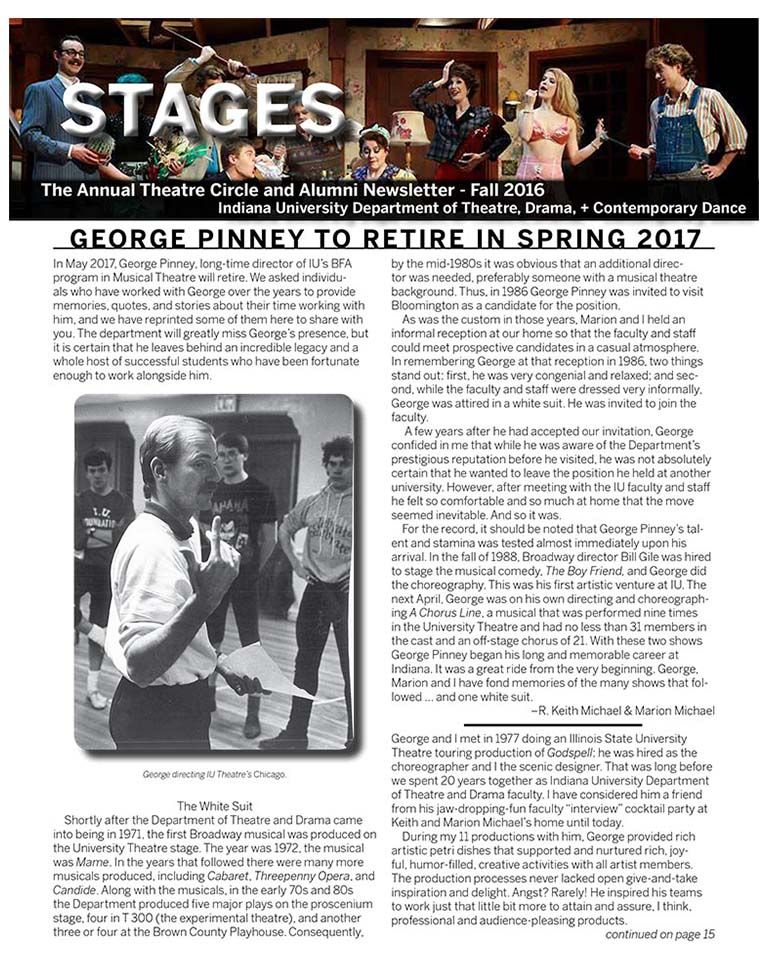 Stages Newsletter Fall 2016