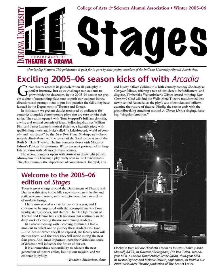 Stages Newsletter Fall 2005