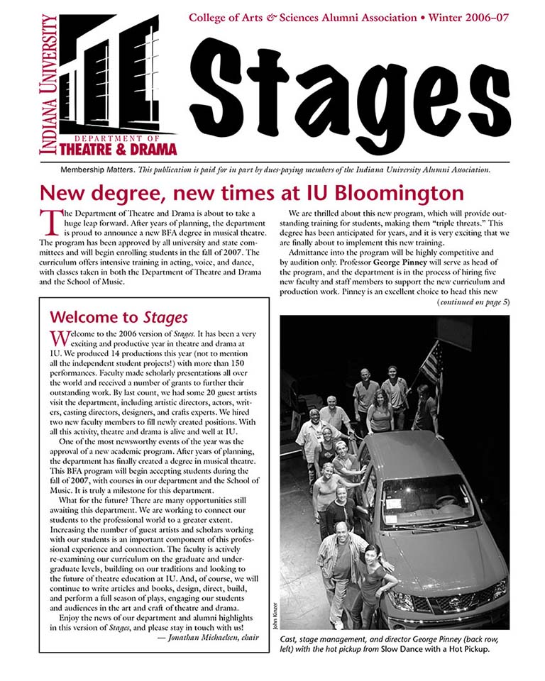Stages Newsletter Fall 2006
