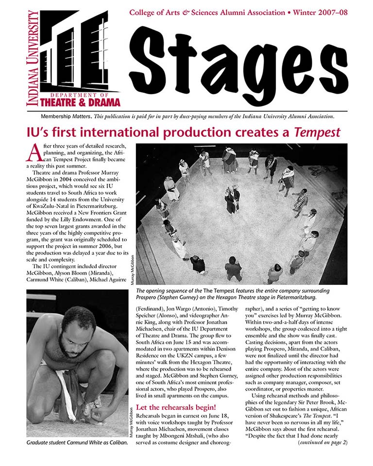 Stages Newsletter Fall 2007