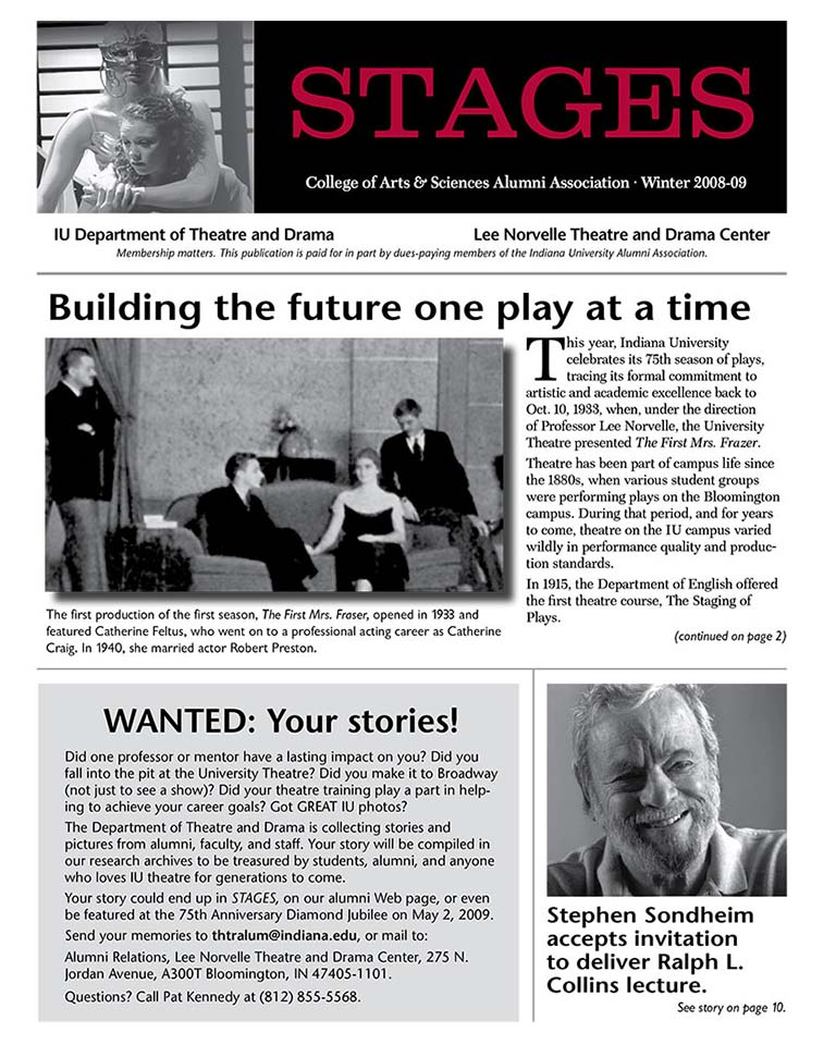 Stages Newsletter Winter 2008
